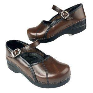 Dansko Womens Mary Jane Clogs Shoes Brown EUR 36